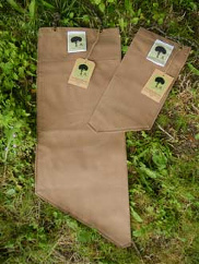 The Brown filter bag available in two sizes